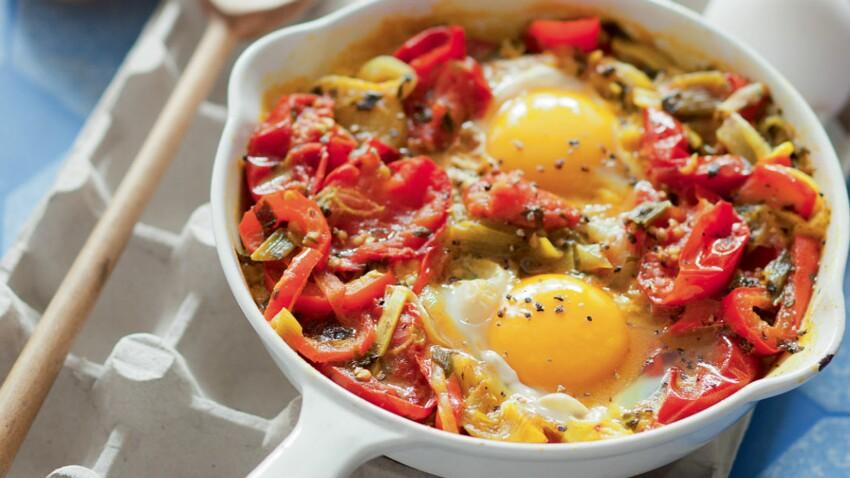 Œuf à la tomate et poivron comme au Maroc