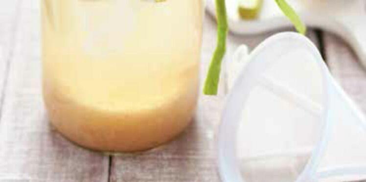 Kéfir au citron frais et touche de miel
