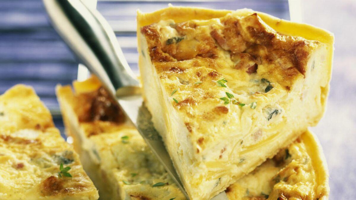 Quiche aux trois fromages