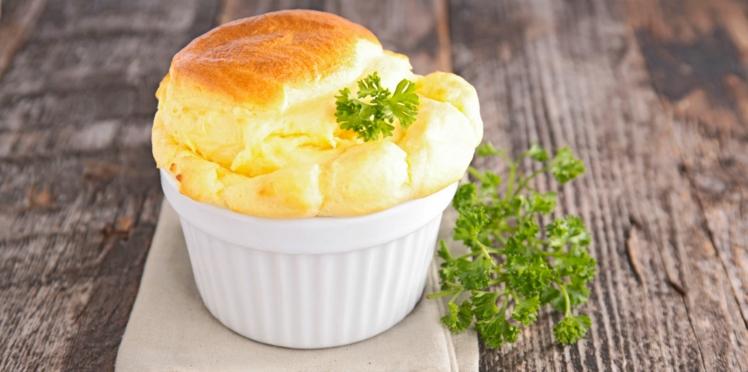 Soufflé raclette au chou-fleur