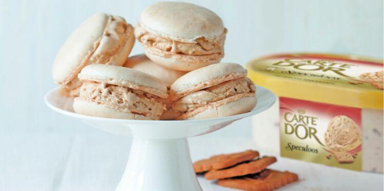 Macarons glacés saveur spéculos