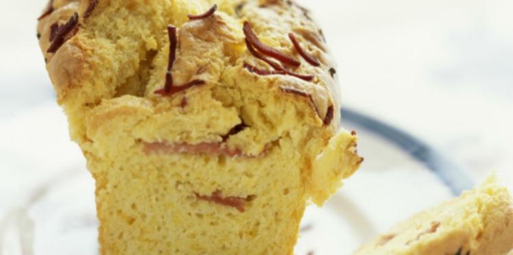 Cake salé au jambon