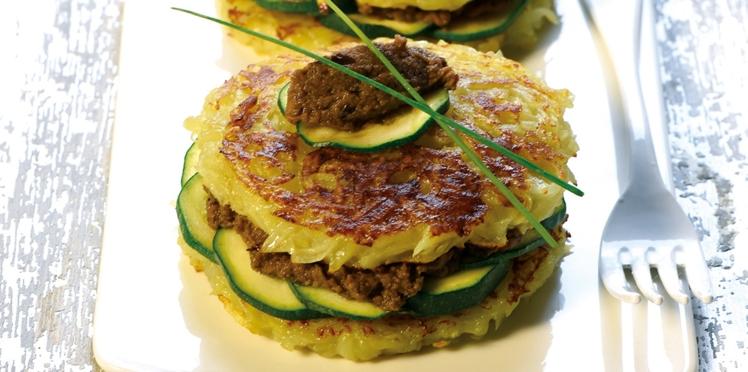 Tartelette de Dolwen®  au caviar d'aubergines et courgettes
