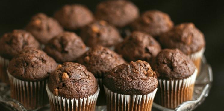 Mini muffins double-chocolat