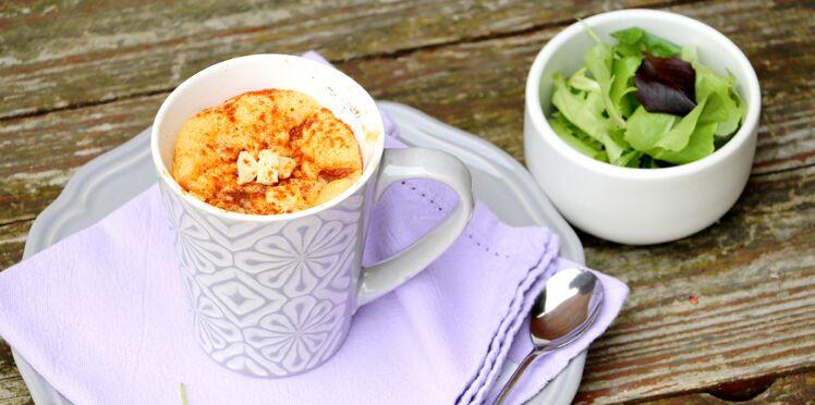 Mug cake aux tomates séchées et chorizo