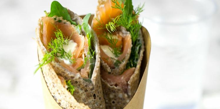 Wrap au saumon et aneth