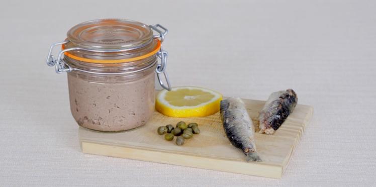 Rillettes de sardines en conserve