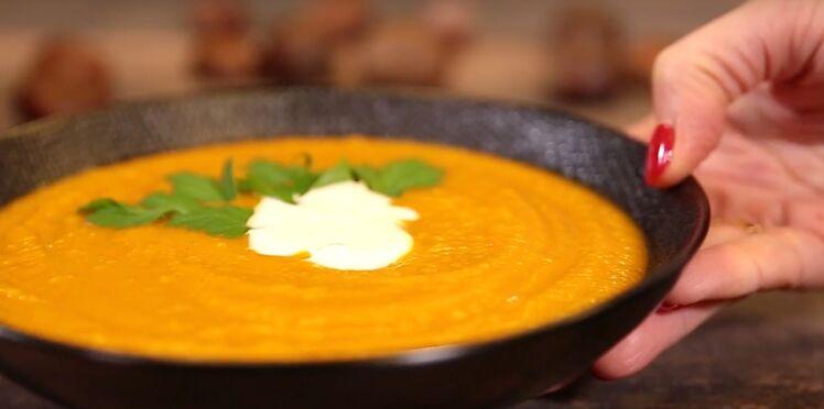 VIDEO : la soupe de potimarron et châtaignes