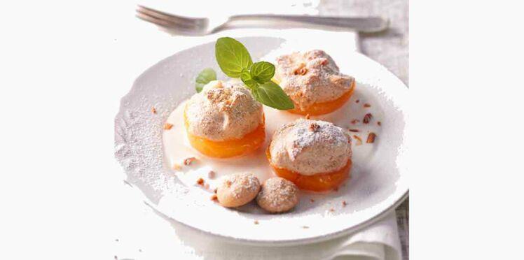 Abricots meringués