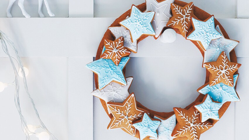 Couronne de Noël en pain d'épices