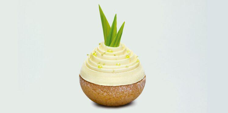 Chou praliné ananas de Julien Alvarez