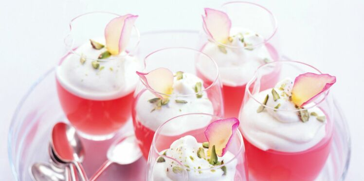 petites gelées de rhubarbe à la rose