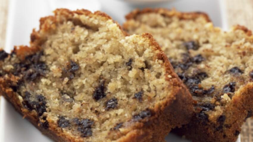 Cake à la banane et pépites de chocolat : découvrez les recettes de cuisine  de Femme Actuelle Le MAG