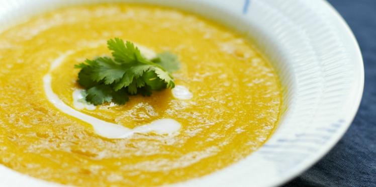 Soupe de carotte au lait de coco