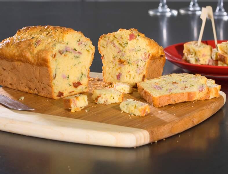 Cake au jambon et moutarde