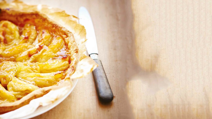 Tarte aux pommes flambée par Laurent Mariotte