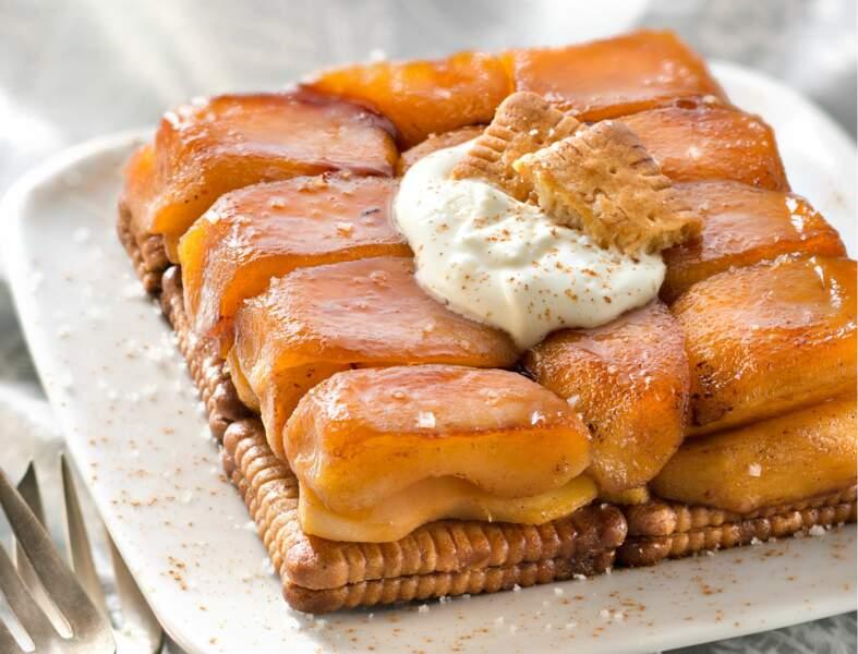 Tatin de pommes aux petits-beurre