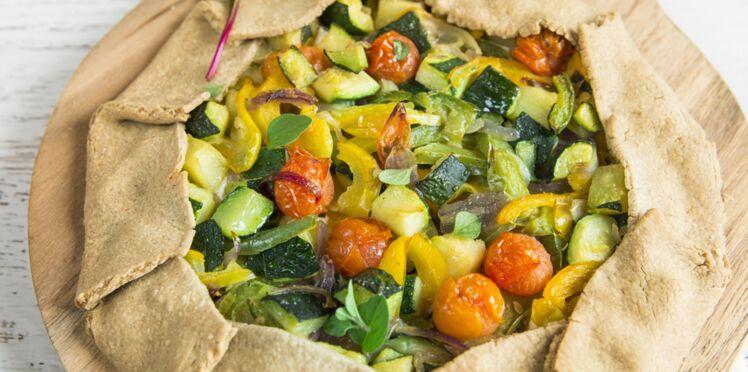 Tarte rustique aux légumes du soleil