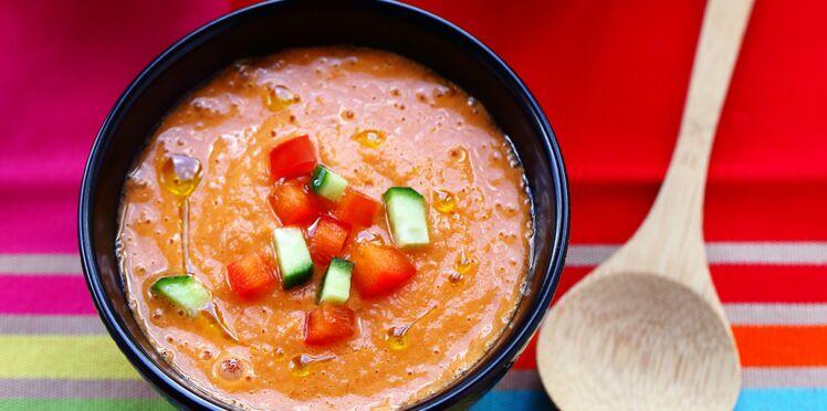 Gaspacho tomates-poivron