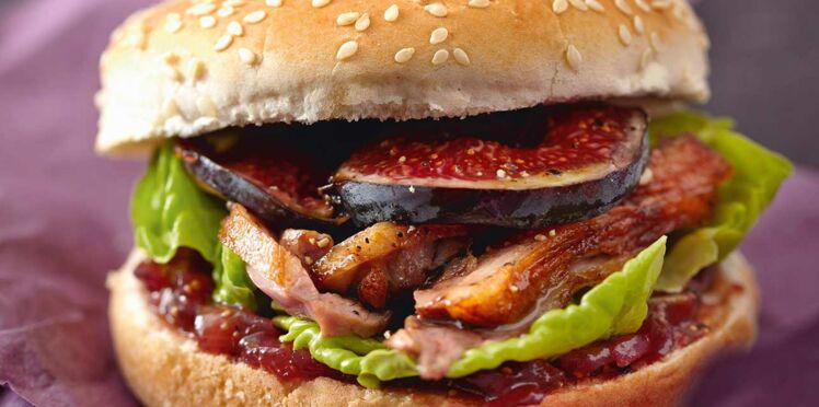 Hamburger de magret aux figues