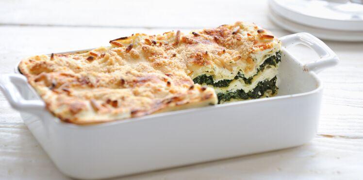 Lasagnes chèvre-épinards faciles