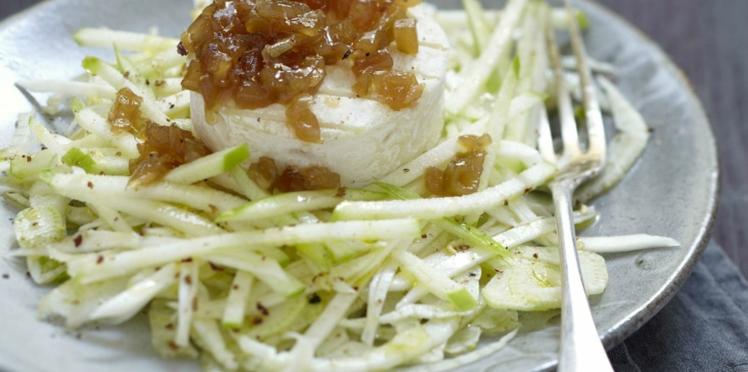 Salade croquante de fenouil, céleri-rave, pomme et Pélardon