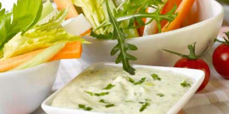 Sauce fromage blanc pour dip