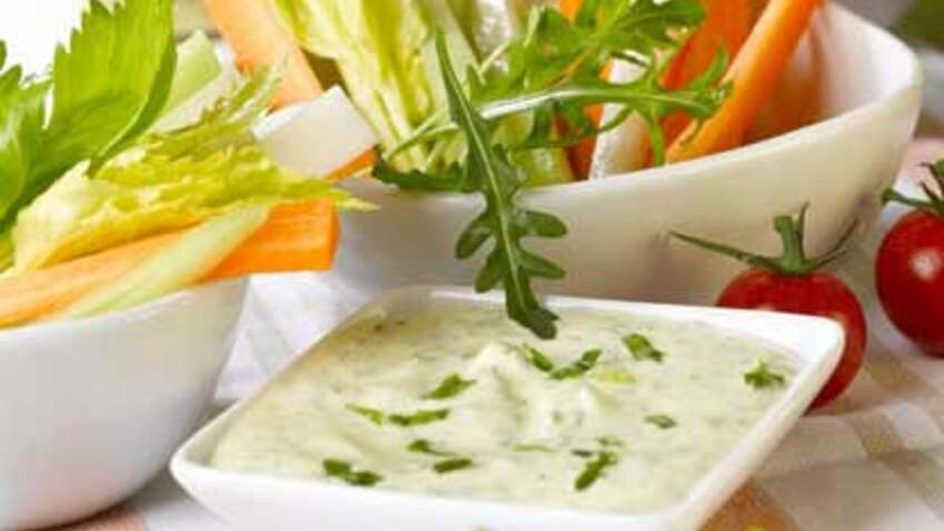 Sauce fromage blanc pour dip