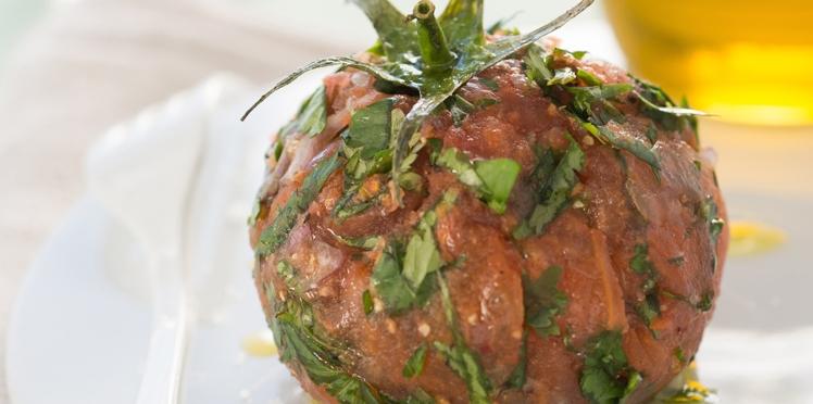 Tartare de tomate coeur-de-boeuf