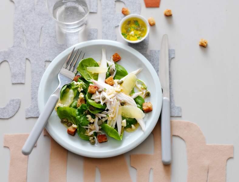 Salade de raie tiède à la vinaigrette