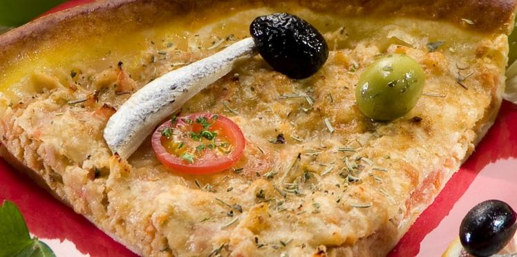 Quiche au thon et olives noires