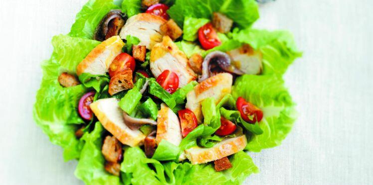 Salade césar express au poulet