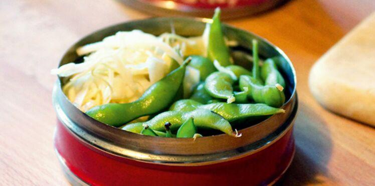 Salade de chou blanc et edemame