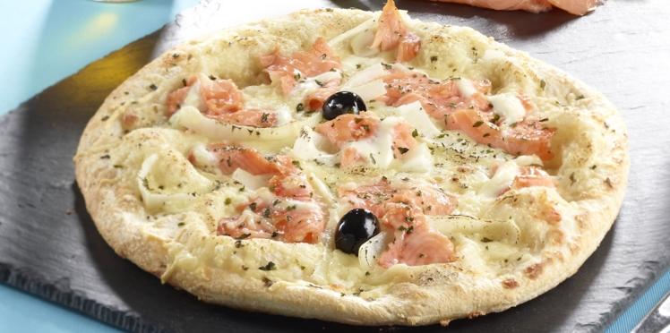 pizza saumon fumé
