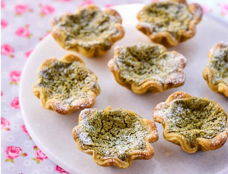 Mini-tartelettes au thé vert matcha