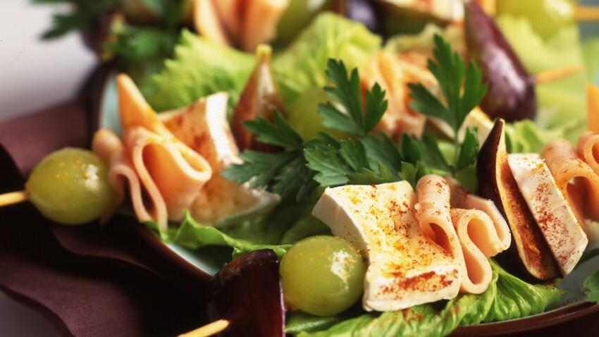 Brochettes de fruits et Mini-Caprice
