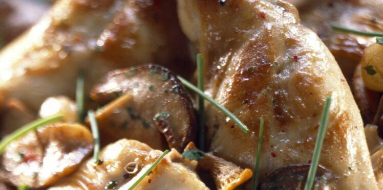 Cuisses de lapin aux champignons
