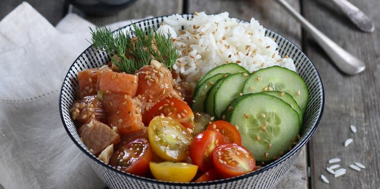 Poke bowl version mer