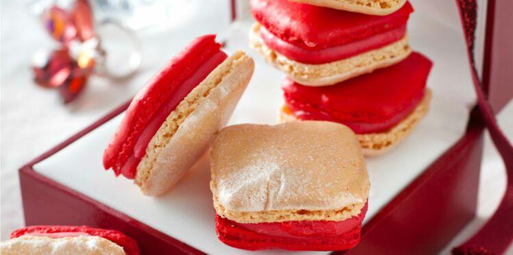 Macarons à la fraise et au poivre de Jonathan Blot