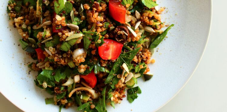 Taboulé de quinoa tomate-olives