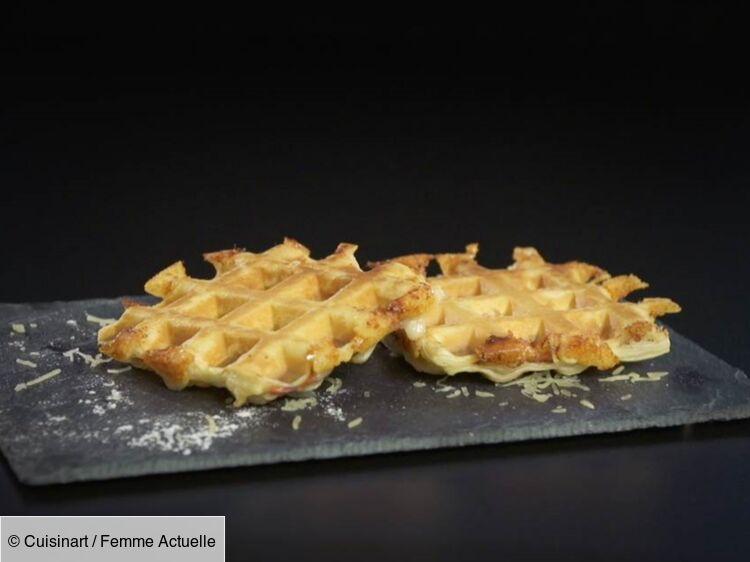Gaufre feuilletée au comté : découvrez les recettes de cuisine de Femme Actuelle Le MAG