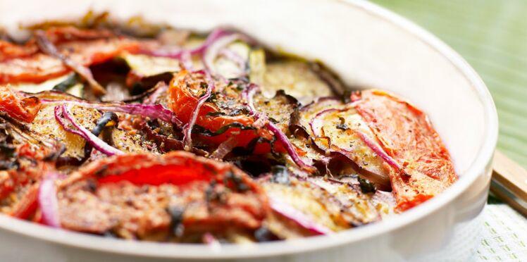 Tian de légumes à la viande