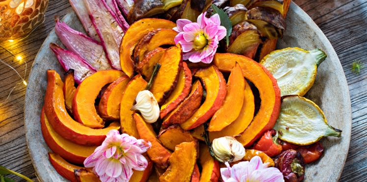 Légumes rôtis et quinoa au safran