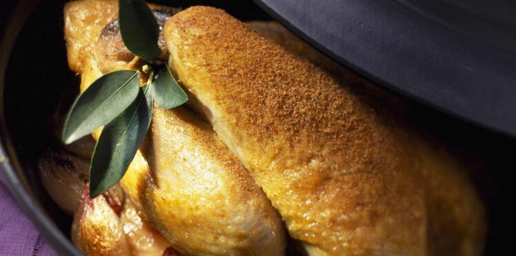 Poulet au curry rôti à la broche