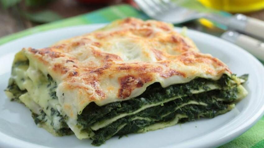 Lasagnes aux épinards, oseille et féta