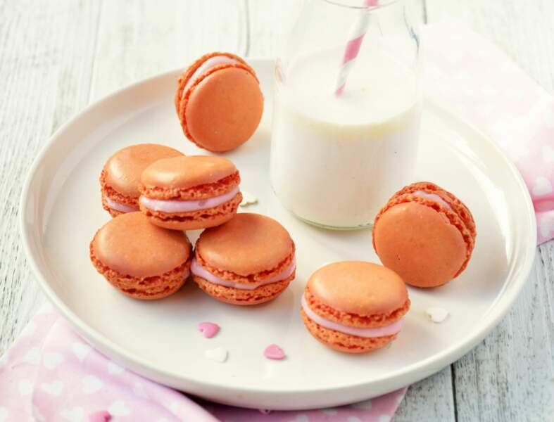 Macarons vegan à la rose