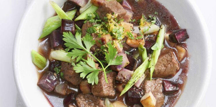 Ragoût de bœuf au vin rouge