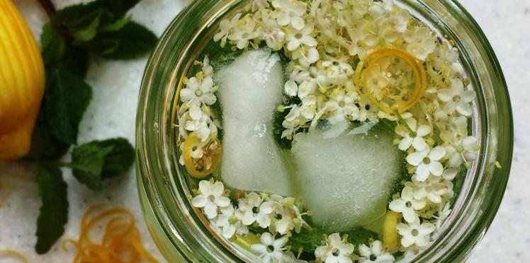 Eau de fleur de sureau et citron