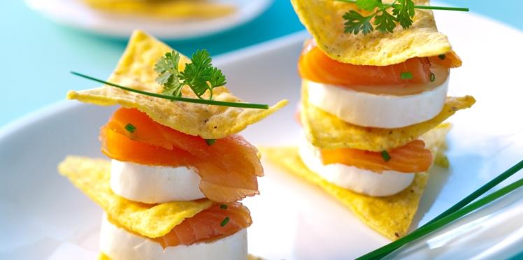 Mille-feuilles de nachos et fromage En Cas de Caprice