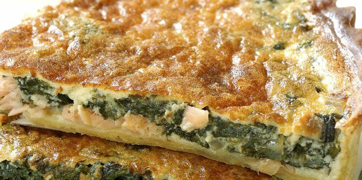 Tarte saumon-épinards frais